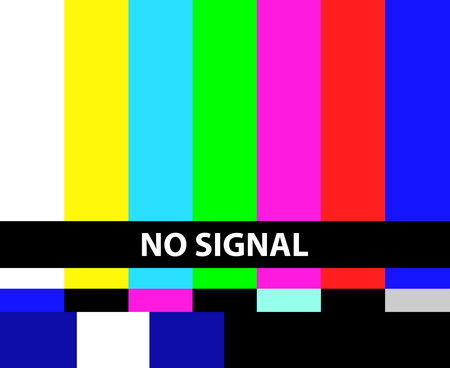 No TV signal illustration 免版税图像 - 92591237