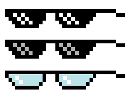 Pixel glasses set