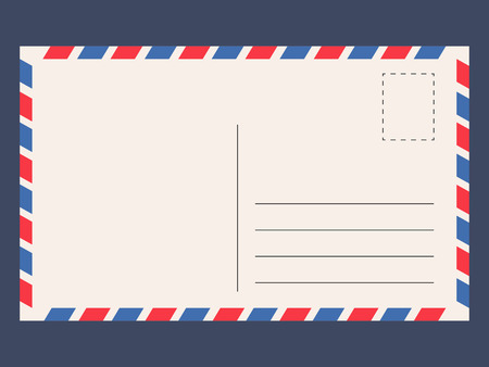 Post Card Template. Card Space For A Short Message, For Sending ...