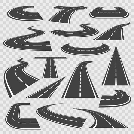 Kurvenreiche Straßen und Autobahnen Standard-Bild - 94782332