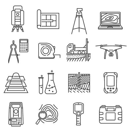 Geodetic line art survey