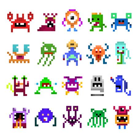 Pixel monster set.