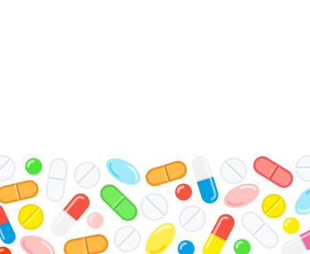Medical capsule pills background.