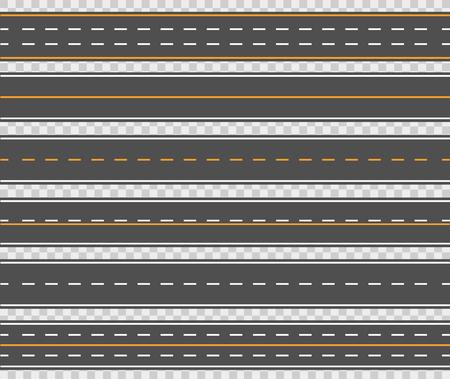 Horizontal asphalt roads design Vettoriali