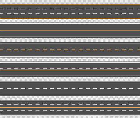 Horizontal asphalt roads design Illustration