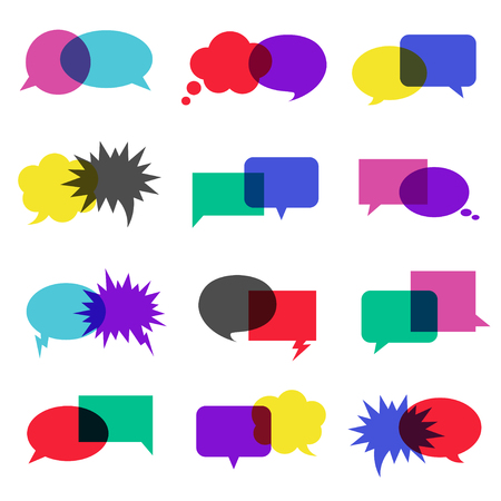 Bubble speech icon set