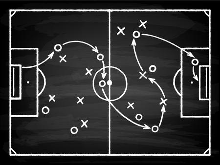 Schema tattico del gioco di calcio Vettoriali