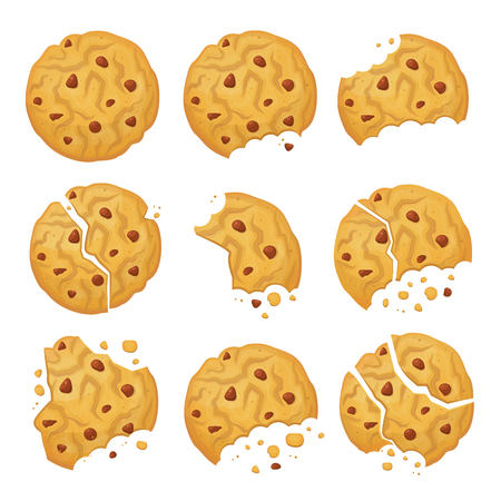 Schokoladen-Haferflocken-Keks Vektorgrafik