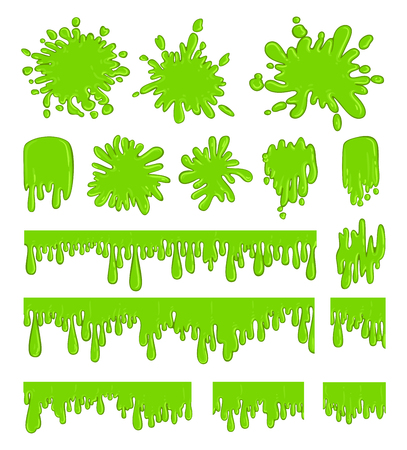 Slime green spot set