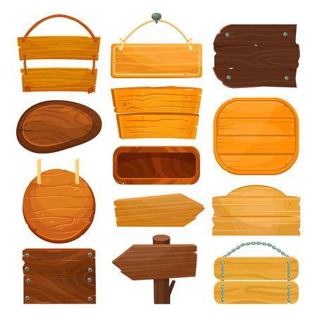Letreros vacíos de madera