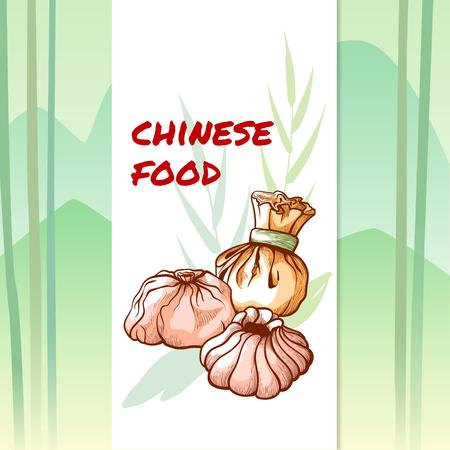 Chinese tasty dumplings restaurant and cafe banner