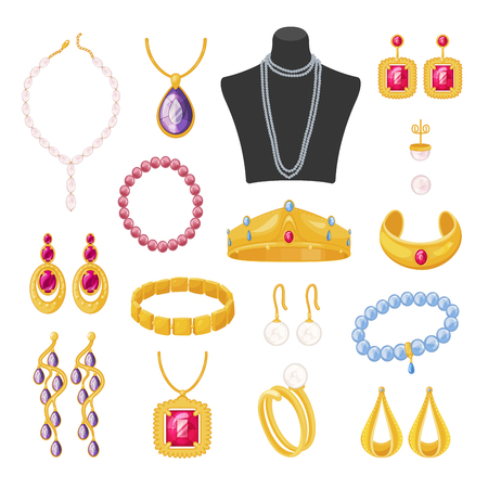 Women jewelry accessories, beautiful elegant female set