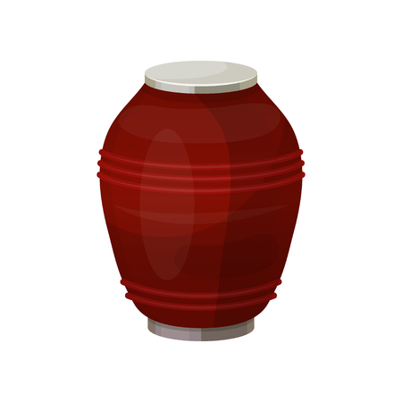 Urn for dust, cremation ceremony vase icon