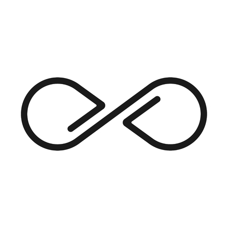 Infinity sign, geometric image and limitless icon Иллюстрация