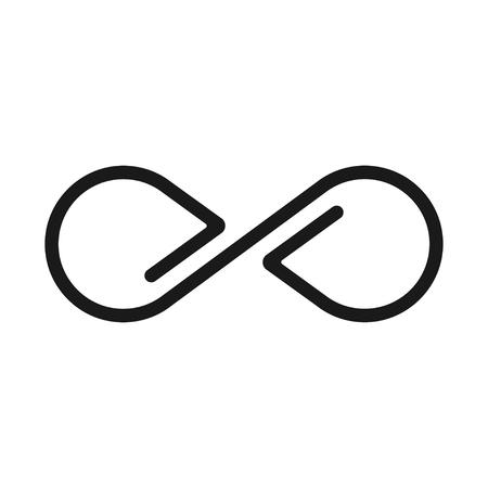 Infinity sign, geometric image and limitless icon Фото со стока - 123647668