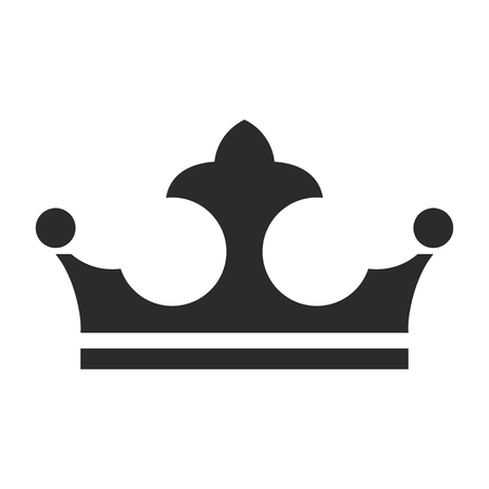 Royal crown icon, authority and jewelry symbol. Power of heraldry emblem. Vector line art illustration isolated on white background Фото со стока - 124380668