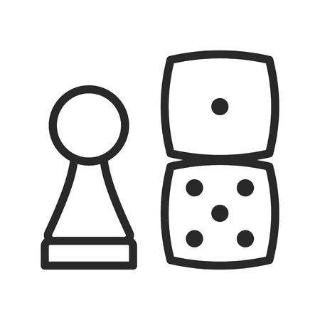 Board game icon, gambling and leisure design Фото со стока - 123647609