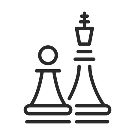 Chess entertainment and strategy set, black icon Иллюстрация