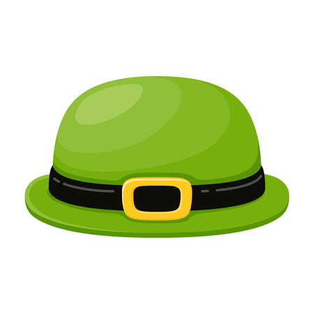 Green hat for party, holiday clothing accessory Фото со стока - 123647616