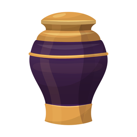Antique decorative vase, ornament traditional interior glass