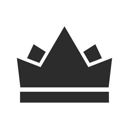 Royal crown black icon, emperor and monarch symbol. Coronation heraldic image. Vector line art illustration isolated on white background Иллюстрация
