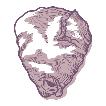 Wasp hive icon, insect nest in nature. Habitation for wasps or hornets, wildlife concept. Vector illustration on white background