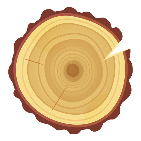 Tree ring icon, timber texture and industry