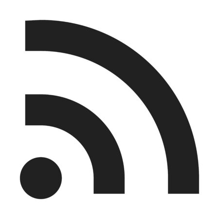 Rss icon, standardized system of content distribution