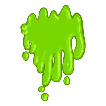 Green slime icon, bright sticky halloween splat