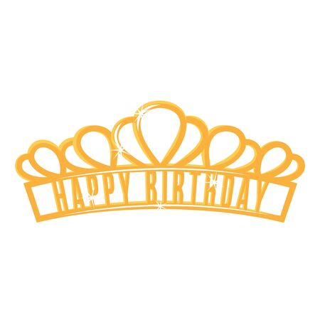 Diadem icon, decorative shiny royal head wear
