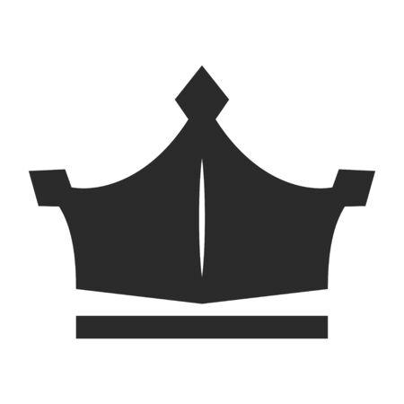 Crown icon, black monarchy and imperial image Illusztráció