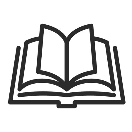 Open book icon, knowledge and text symbol Illusztráció