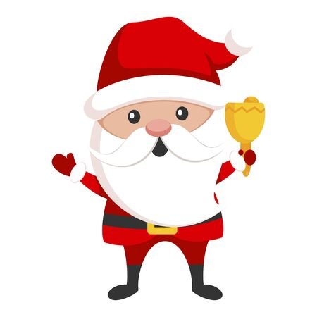Santa Claus icon, new year character for christmas decoration