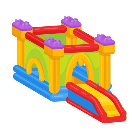 Bouncy castle icon, outdoor playground and recreation