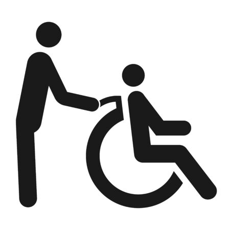 Disabled sign with a wheelchair black symbol