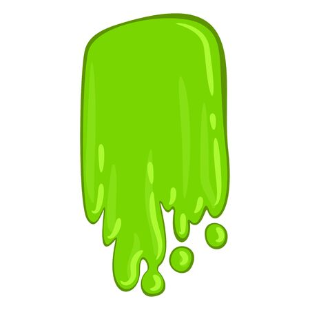 Green slime icon, bright scary paint spot 写真素材 - 133292992