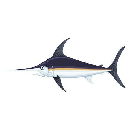 Swordfish sea and ocean icon, marlin cuisine