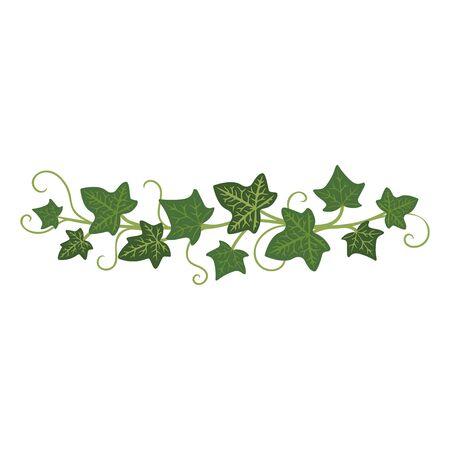 Ivy branch icon, green climbing garden frame