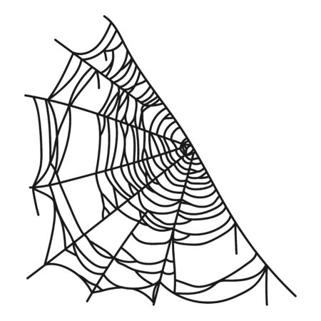 Spiderweb icon, web made by a spider Ilustrace