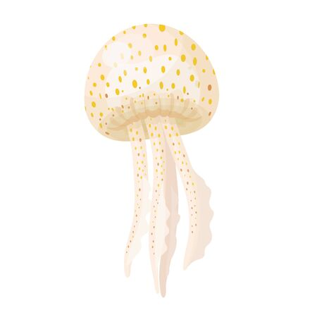 Spotted jellyfish icon isolated on white background