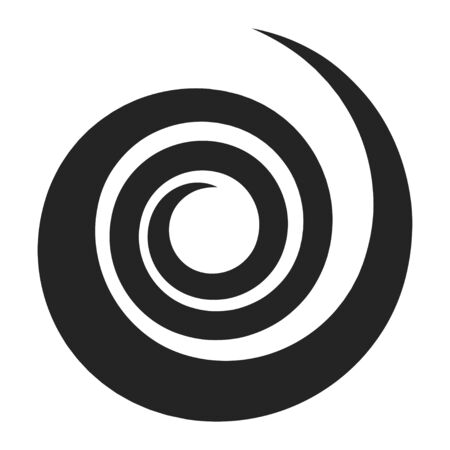 Spiral black icon, round circle effect and hypnosis