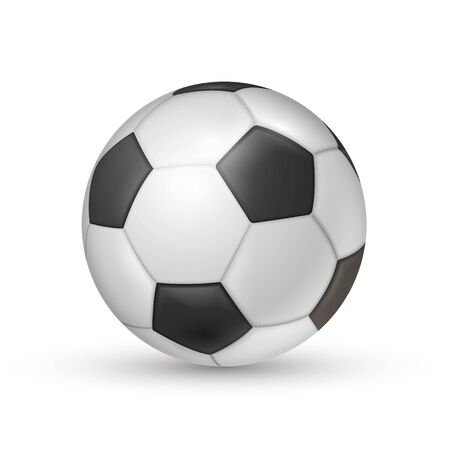 Soccer ball icon, football game sport for competition