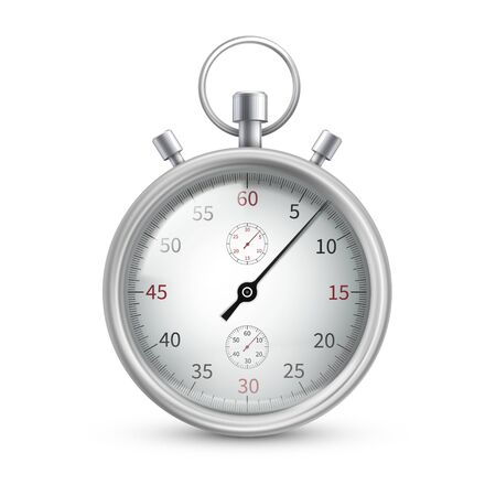Stopwatch, special watch to start, stop, measure Vecteurs