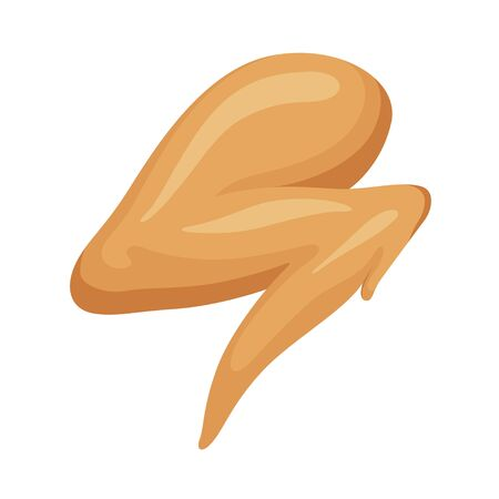 Chicken wing icon, traditional delicious poultry appetizer
