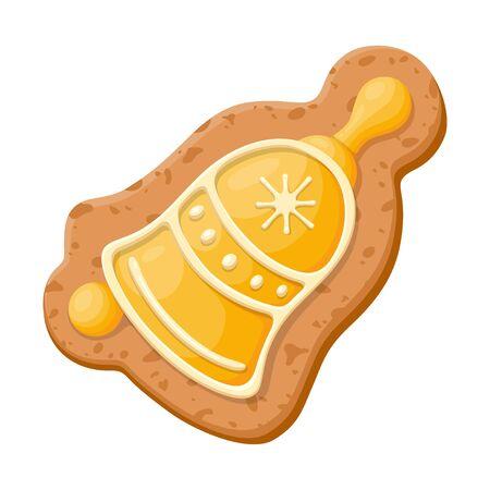 Christmas gingerbread sweet cookie, homemade fresh bakery