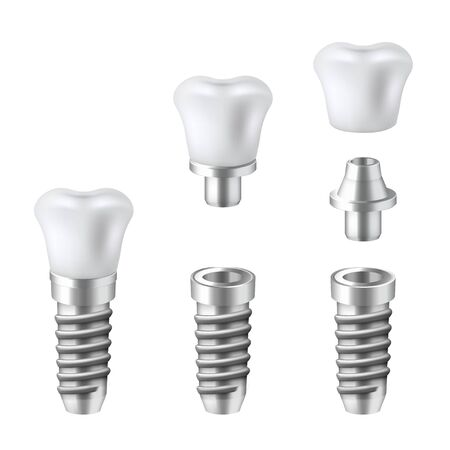 Dental implants set, medical and dentist technology