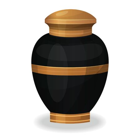Urn for ashes icon, cremation ceremony vase