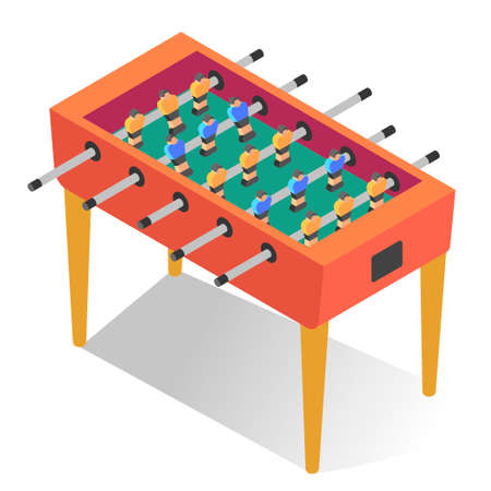 Table-top soccer or foosball. Kicker, football, competitive game for leisure time.