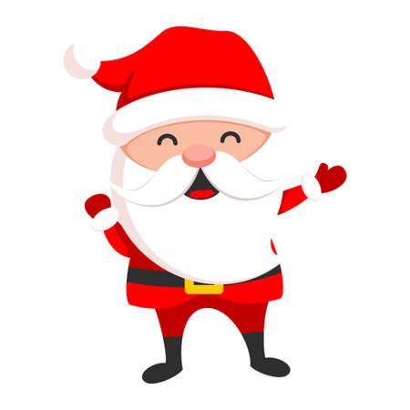 Santa Claus cute christmas character, holiday symbol
