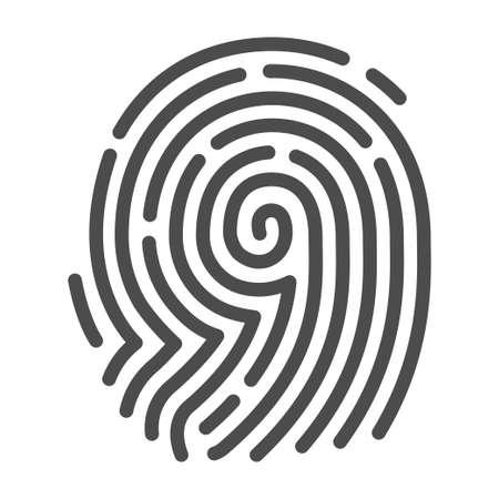 Fingerprint security image, fingertip mark for identifying